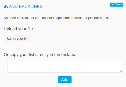 import backlinks into Oseox LINK
