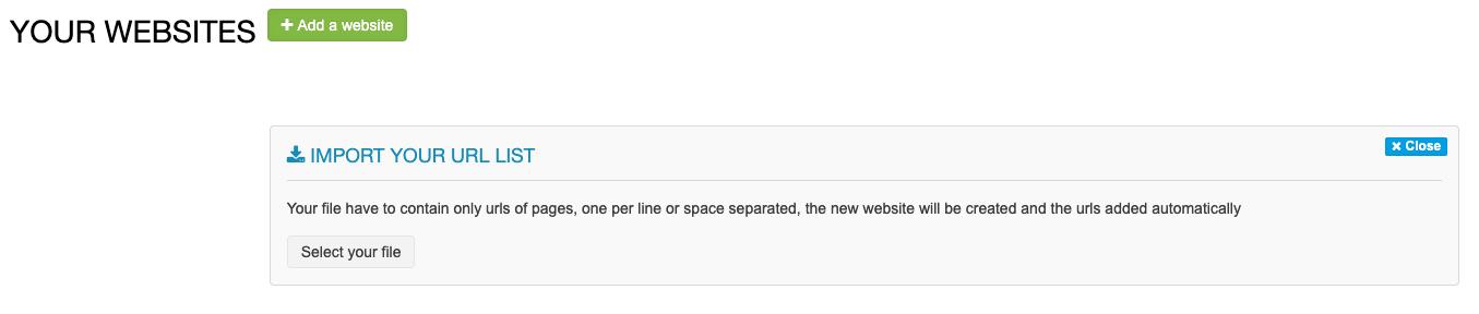 Import URL list