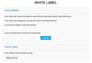 Oseox monitoring white label setup