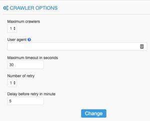 crawler options